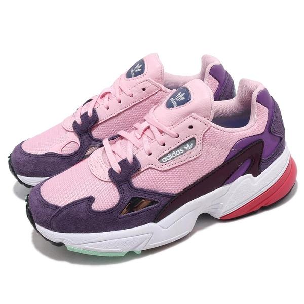 【五折特賣】adidas 老爹鞋 Falcon W 粉紅 紫 麂皮鞋面 復古 老爺鞋 運動鞋 女鞋【ACS】 BD7825