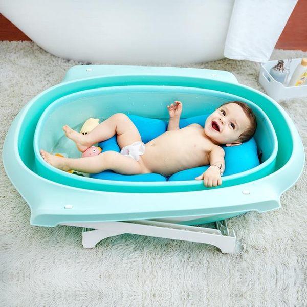 可坐躺折疊新生兒童洗澡桶超大寶寶用品浴桶