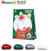 美國 Crayon Rocks 酷蠟石-聖誕熊諾瑞4色(盒購) 大樹
