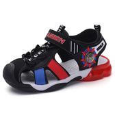 ?路比男童包頭涼鞋新品夏季新款兒童鞋潮中大童學生男孩沙灘鞋【店慶8折促銷】