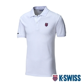 K-SWISS Vintage Polo短袖Polo衫-男-白