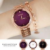 韓國GUOU永恆詩篇花玻璃切面金屬鍊帶手錶【WGU6014】璀璨之星☆
