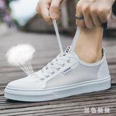 網面運動男小白鞋2019夏季新款韓版潮百搭休閒鞋透氣板鞋男 aj12058『黑色妹妹』