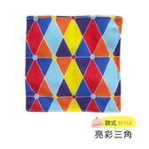 ☆愛兒麗☆美國Baby Paper 寶寶響紙安撫方巾-亮彩三角