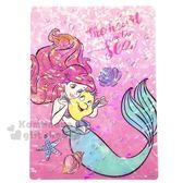 〔小禮堂〕迪士尼 小美人魚 日製亮片硬墊板《B5.粉.賽巴斯汀》學童文具.桌墊 4901770-57137