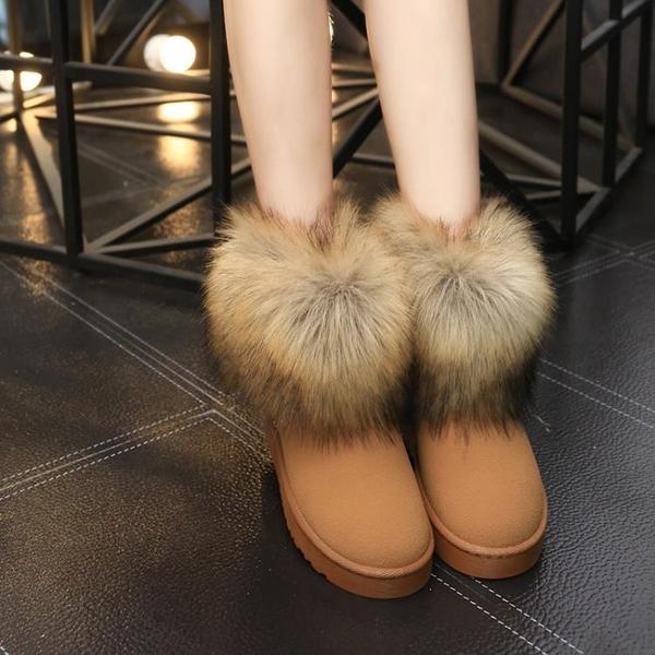 2020年新款冬季網紅雪地靴女加絨加厚女士棉鞋一腳蹬冬鞋保暖短靴 童趣潮品