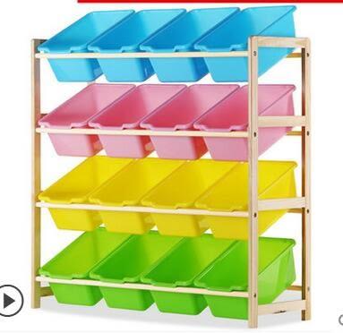 實木兒童玩具架收納櫃置物架寶寶玩具櫃幼兒園儲物架整理架收納箱