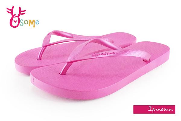 IPANEMA拖鞋 閃耀原色夾腳拖鞋 巴西拖鞋 H5860#桃紅◆OSOME奧森