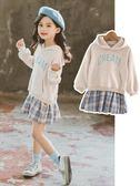 女童連身裙小女孩公主洋氣時尚中大童春裝公主裙兒童裙子