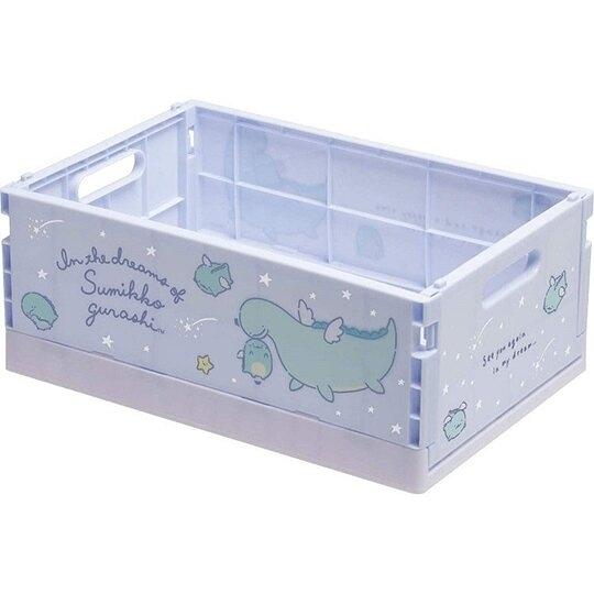 小禮堂 角落生物 折疊無蓋收納箱 塑膠收納箱 折疊收納箱 小物箱 (M 藍 翅膀) 4974413-77313