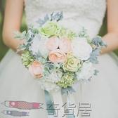 西式新娘手捧花仿真花韓式婚禮婚紗攝影道具小清新森繫