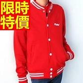 棒球外套女夾克-棉質保暖清新走秀款時髦日系俐落拼接3色59h146【巴黎精品】