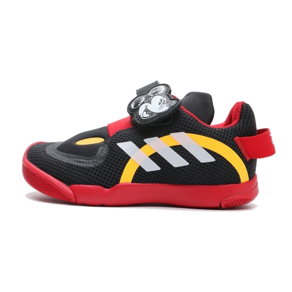 ADIDAS 涼鞋 ACTIVE PLAY MICKEYL 米奇 魔鬼氈 黑紅黃 腳趾保護 童鞋 小童 (布魯克林) FV4258