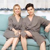 睡衣 薄款純棉毛巾料美容院浴袍浴衣情侶酒店睡袍睡衣男士少女夏天 辛瑞拉