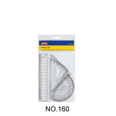 [奇奇文具]【三燕 COX 三角板組】160 塑膠尺組/三角尺/量角器(三角板/直尺/半圓)