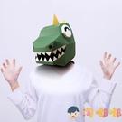 萬聖節兒童節可愛動物卡通小怪獸紙模面具頭套擺件cos【淘嘟嘟】