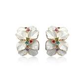 耳環 925純銀鑲鑽-簡約精緻生日聖誕節交換禮物女耳針73gt65[時尚巴黎]
