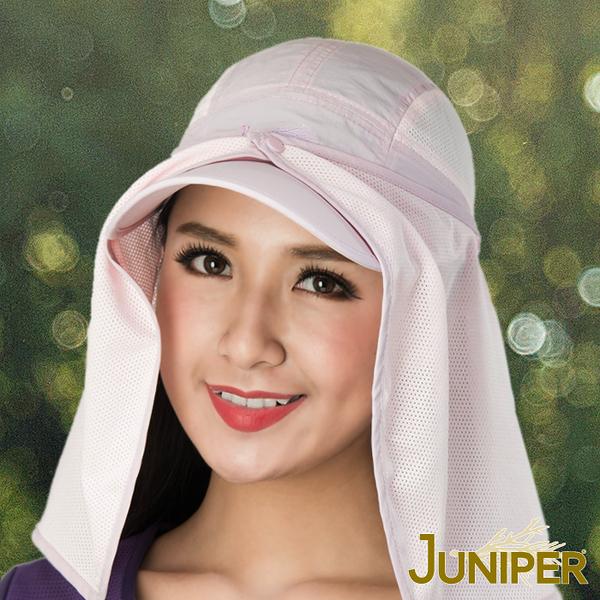 防曬帽子-男女抗紫外線UV運動遮陽鴨舌帽+可拆式披風J7545B JUNIPER