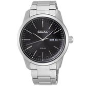 【台南 時代鐘錶 SEIKO】精工 CS系列簡約大三針時尚腕錶 SNE527P1@V158-0BE0D 黑/銀 40mm