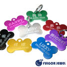【Fulgor Jewel】富狗  客製化 寵物吊牌 名牌 鋁質 骨頭造型 免費雕刻單面