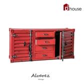 【DD House】Alvarez工業風仿舊貨櫃造型四格抽屜收納櫃/置物櫃