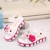童鞋女童涼鞋夏季新款寶寶兒童韓版平底花朵小女孩公主鞋防滑 〖米娜小鋪〗