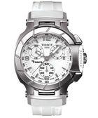TISSOT 天梭 T-RACE LADY 計時運動手錶-白 T0482171701700