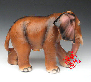 動物工藝品擺件 母子大象