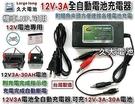 【久大電池】台灣製 12V3A 智慧型 充電器 充電機 可充12V3Ah~30Ah電池 NP電池 機車電池 適用