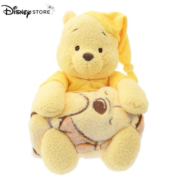 日本 DISNEY STORE 迪士尼商店限定 小熊維尼 放鬆時間系列 玩偶&毛毯組合