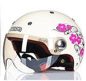 618大促 BEON摩托車頭盔男女四季半盔覆式電動機車安全帽可愛輕便秋季防曬 百搭潮品