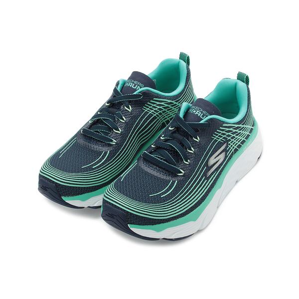 SKECHERS 慢跑系列 GORUN MAX CUSHIONING ELITE 跑鞋 藍綠白 17693NVTQ 女鞋