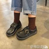娃娃鞋ins小皮鞋女學生韓版百搭ulzzang原宿學院風復古平底大頭娃娃單鞋 伊蒂斯