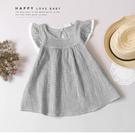 純棉 氣質小格紋蕾絲袖洋裝 春夏童裝 女童洋裝 女童長版 女童連身裙 女童傘裙