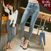 LULUS-Y-雙釦合身牛仔長褲S-XL-淺藍  現+預【04011228】