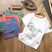 男童純棉T恤短袖兒童寶寶字母圓領短袖t恤夏季新款歐美童裝柔軟潮 芭蕾朵朵