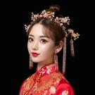 中式新娘秀禾頭飾簡約