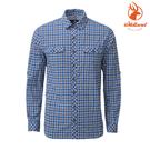 WildLand荒野 0A81202 男彈性抗UV格子長袖襯衫 / 城市綠洲(UPF30+、棉感、吸溼)