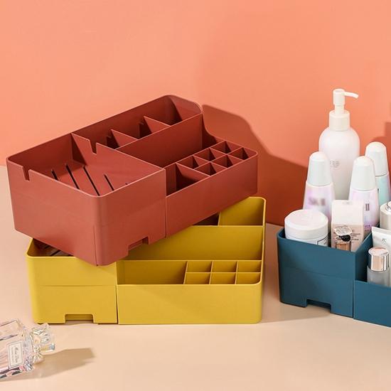 收納盒 化妝品收納盒 文具收納盒 塑料收納盒 置物盒 摩登系列 多層 化妝品收納盒【R062】MY COLOR