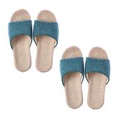 (組)居家平面輕便拖鞋-綠M x2