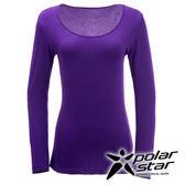 PolarStar 女 圓領吸濕發熱保暖衣 『暗紫』 P15250