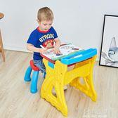 兒童畫板小黑板 二合一畫架涂鴉寫字板寶寶家用留言板支架式畫架igo『小淇嚴選』