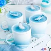E家人 馬克杯 禮物手工陶瓷鯨魚海豹馬克杯餐盤咖啡杯盤子創意