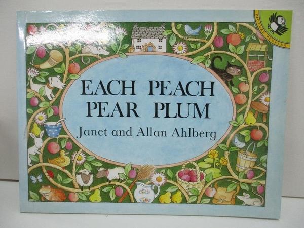 【書寶二手書T4/少年童書_DNI】Each Peach Pear Plum_Ahlberg, Janet/ Ahlberg, Allan