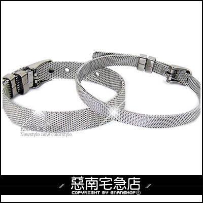 惡南宅急店【0087B】西德鋼層次錶扣『時尚簡約-鋼絲風手鍊』,情侶對鍊可