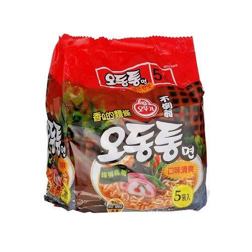 韓國不倒翁海鮮烏龍拉麵120g*5包【愛買】