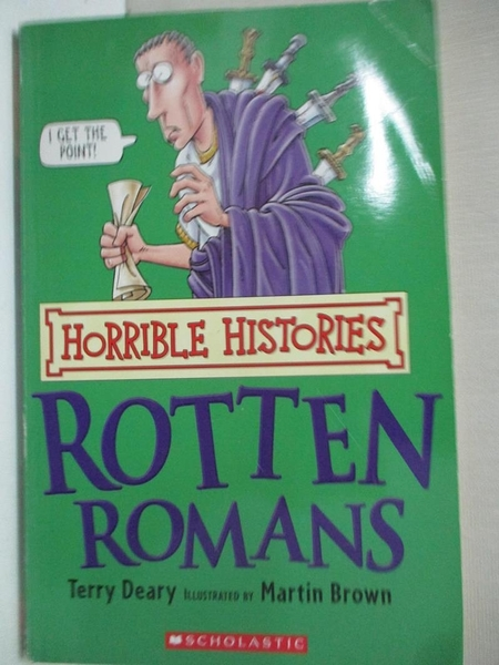 【書寶二手書T1/兒童文學_CX5】Horrible Histories-Rotten Romans_Martin Brown