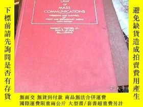 二手書博民逛書店LAW罕見OF MASS COMMUNICATIONSY1645