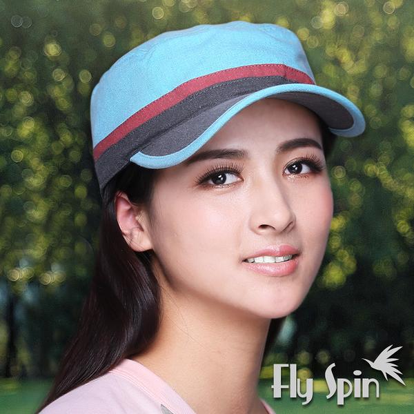 平頂軍帽子-韓版拼色流行時尚遮陽軍人帽13SS-W019 FLY SPIN