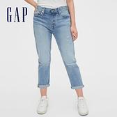 Gap 女裝 時尚水洗寬版牛仔褲 546956-仿舊淺靛藍